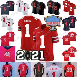 NCAA Ohio Estado Buckeyes Football Jersey Osu Garrett Wilson Justin Fields Julian Fleming Eddie George Chris Olave Elliott Master Teague III