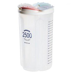 Grano de café Práctico Sello desmontable Rejilla Dry Grids Almacenamiento Cereal Contenedor Transparente Kicthen Con Scale1