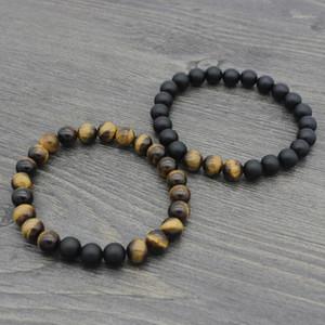 Jocestyle di alta qualità giallo tigre occhio buddha braccialetti naturali lava perline preghi ricchezza gioielli classici fortunati per le donne uomini1
