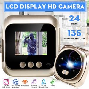 """Porteiro Eye 2.4"""" LCD Digital Peephole 160 Degree Início Peephole porta Visualizador de fotos Tomando Gravação de Vídeo Smart Camera"""