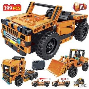 City Creator Off Road Car Building Blocks Technic Engineering Loader Trucks Container Bulldozer Bricks Toys For Boys yxlGBG toptrimmer