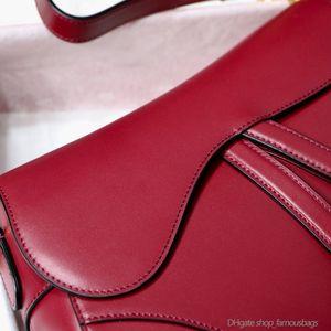 High Quality Leather Womens Genuine Portefeuille Bag Sm Purses Shoulder Custom Crossbody Red End Handtasche Bags Bag Saddle Handbags 7a Pngt
