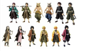 Demon Slayer Kimetsu no Yaiba Figure Kamado Tanjirou Doll Figure Anime PVC Collection Model Toy Action Figure Gift