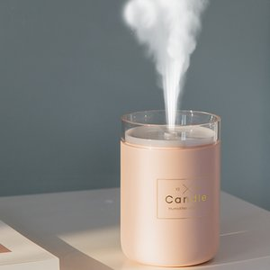 280ML Ultrasonic Air Humidifier Candle Romantic Soft Light USB Essential Oil Diffuser Car Purifier Aroma Anion Mist Maker with Night Light
