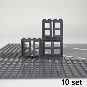 Ciudad Puerta Ventanas Accesorios Building Blocks casa cerca Escaleras escalera de ladrillos Moc piezas del juguete para el cabrito compatible jjxh Marcas yxlhkE