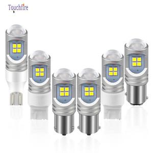 100Pcs Lot T20 7440 7443 1156 P21W Led Car Bulb 3030 12smd Canbus 6000K White Amber 10-30V 2400LM Auto Lamp Reverse Brake Light