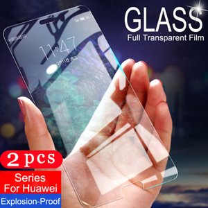 2Pcs 9H tempered glass for huawei P30 P20 pro P10 P9 lite phone screen protector on the glass smartphone protective film