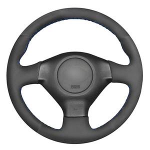 DIY مخيط اليد التوجيهية جلدية عجلات سيارة غطاء للحصول على سوبارو ليجاسي فورستر المناطق النائية امبريزا WRX 2003-2007 ساب 9 2X 2005-2006