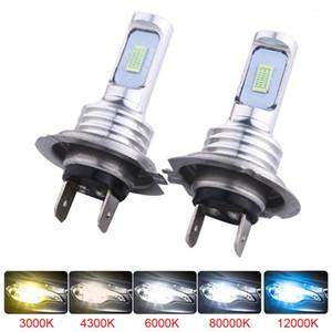 Fari dell'automobile Muxall LED CSP Mini H7 Lampade per auto Faro Bulbs H4 H8 H11 Fendinebbia HB3 9005 HB4 ICE Blue 8000K 3000K Auto 12V1