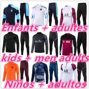 20 21 kids Niños + men adultos real madrid psg ajax on marseille 2020 2021 chandal futbol chándal de fútbol soccer tracksuit football training suit