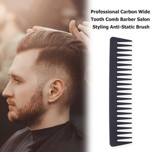 Carbon Wide Tooth Comb Durable Heat Resistance Professional Salon Barber Professional Hair Styling Brush tsetpDc topscissors