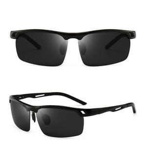Fashion Sunglasses Men HD Polarized Trendy Aluminum Magnesium Frame Riding Sun Glasses