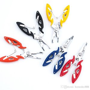Stainless Steel Fishing Pliers 4 Color Scissors Outdoor Fisherman Line Cutter Remove Hook Fishing Tackle Tool Gadget