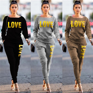 Women Tracksuit Designer Knitted Pullover Sweater Trousers Outfit Two Piece Clothing Set Sweater Legging Pants Suit S-2XL Boutique E122106