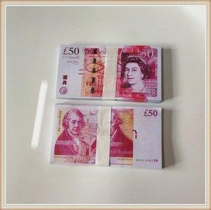 50 фунта Ночного клуб Бар British United Kindom Банкнота 50 фунтов Примечание для сбора или Бизнес подарков Prop и поддельных денег реквизита денег