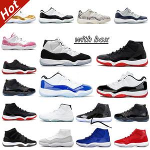 11 jordan 11S 25ème anniversaire Bred Concord 45 Space Hommes Chaussures de basketball 12 12S Indigo jeu Royal Inverse grippe Game Mens Femme Sports Sneakers