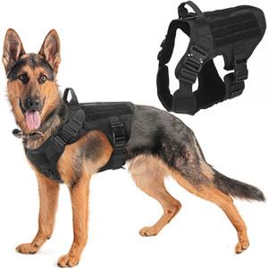 Military Tactical Hundegeschirr Hundeschulen Hundeweste Metallschnalle Deutscher Schäferhund K9-Hundegeschirr und Leine für kleine Große Hunde C1005