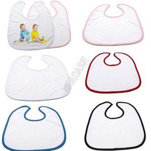 Moda DIY Heat Sublimación en blanco Pañuelo de babero para bebé para transferencia térmica Máquina de prensa La bufanda Saliva Toallas Burp Cloths D102905