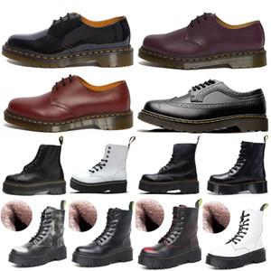 2021 дизайнер 1460 Ankle 1461 DR Платформа Martin 2976 Zip Detail Mount Mens Mens Женщины Женский Мех Снежные Мартинс Загрузочные Doc Boots 36-45