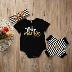 3pcs Newborn Infant Baby Girl Cotton Body Romper Jumpsuit Cotton Outfit Clothes
