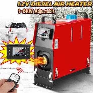 1-8kw einstellbar 12V in einem Luft-Dieselhitzer ein Lochauto-Heizgerät für Lkw-Motorhäuser Boats Bus + LCD-Schlüsselschalter + Remote1