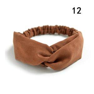 Gamuza gamuza turbante mujer banda de pelo arcos elástico Headkerchief Deporte Hairbands Head Band Nudo Diadema para niñas Headwear Headwrap Q BBYIQF