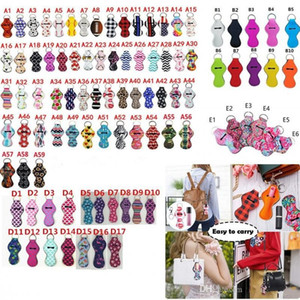 182 Colors Pattern Printing Chapstick Holder Keychain Girl Chapstick Lipstick Keychain For Party Favors Xmas Valentines Gifts US STOCK