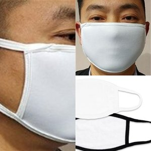Anti Sublimation Blanks Face Mask Protective Earloop Dust Respirator Foldable Printing Blank Mascarilla Cloth Adult bne