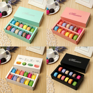 Exquisite Macaron Packing Box Cupcake Paper Party Snacks Case Cake Valentines Day Gift Food Storage Containers Hot Sale 1 89jm F2