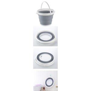5l Bucket For Fishing Promotion Folding Bucket Car Wash Outdoor Sile Bait Fishing Supplies Bathroom Clothes Storag bbyHSM
