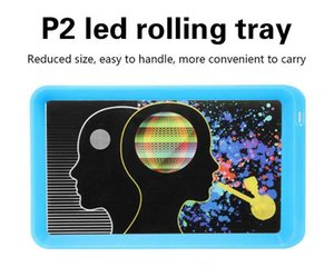 Rolling Tray Glow Cigarette Tray 800mah LED Light Glowtray Plastic ABS Tobacco Smoking Rechargeable Trays Storage Plate Cookie DHL