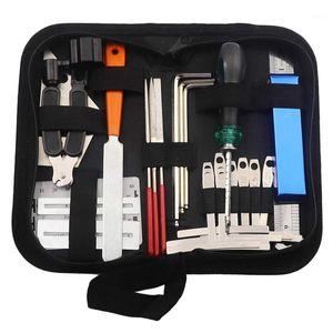 Kit de ferramentas de guitarra Reparação de ferramentas de manutenção Organizador de cadeia de corda Ação de ação de régua de medição Ferramenta de medição Chave hex finge1