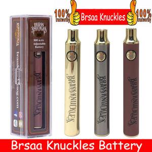 Pirinç Knuckles Pil 650 mAh Iyi 900 mAh Ahşap SS Vape Kalem Önceden VV Değişken Gerilim USB Şarj Pil 510 Kalın Yağ Kartuş Tankı