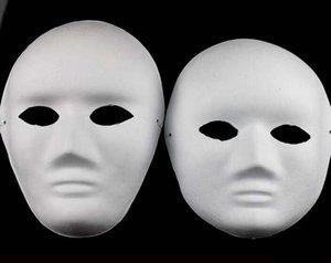 Yetişkinler için Yüz Tam Maskeleri DIY Pulp Alçı Kapalı Kağıt Hamuru Blank Toptan Erkekler Kadınlar Düz Parti Mask El-Boyalı
