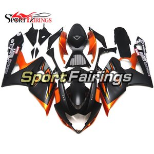 ABS هيكل السيارة ل K5 05 05 GSXR 1000 2005 2006 Suzuki GSX-R1000 Sportbike Injection Faintings Kit مع مقعد Cowl Orange Matte Black
