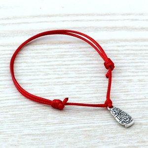 50pcs  lots Adjustable Bracelets Red Waxes rope Antique silver Alloy Russian dolls Charm Adjustable Bracelet B-57