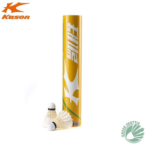 100% Genuine Kason KS20 Badminton Training Durable with Great Flying Duck Goose Feather Shuttlecock 201116