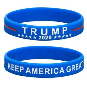 Donald Trump Silicone Bracelet Keep America Great Wristband US General Election Bangle Soft Sport Band 2 Styles GWB2630