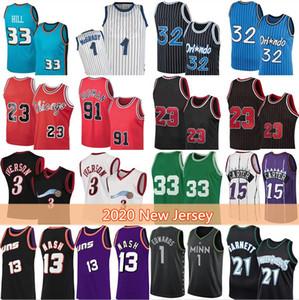 Kevin Vince 21 Garnett 3 Allen 15 Carter Iverson Basketball Jersey Grant 33 1 Isiah Hill Thomas Penny Haraway Steve Bull 13 Nash Retro Malla