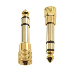6,35mm (1/4 Zoll) männlich bis 3,5 mm (1/8 Zoll) weibliche Stereo-Audio-Adapter-Jack-Steckverbinder vergoldet JK2007KD