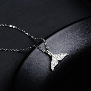 Tiny Trendy Cubic Zirconia Crystal Dolphin Pendant Necklace Luxury classics Animal Necklaces For WomenDelicate Jewelry 2020