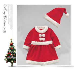 Sonbahar ve kış yeni erkek ve kız Noel giyim toptan Noel Baba elbisesi Festivali çocuk giyimi parti elbise GGE1794
