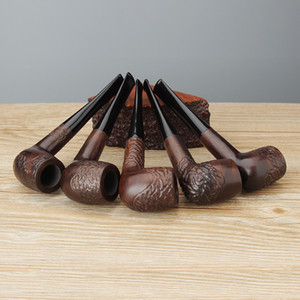 JIBILL Ebony Wood Tabacco Pipe Engraved Style High Quality Smoking Pipe AC0007k01
