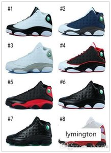 [With Box ]2016 13 Xiii Basketball Shoes Men Bred Flints Grey Toe He Got Game Hologram Barons Sport Sneakers Training Shoes Us 8 -13