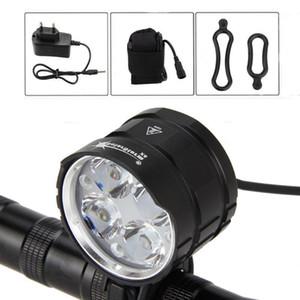 Solarstorm 4x XML T6 LED 3200 LM Велосипед Передний свет Велосипедные велосипедные светодиоды Handlamp + AC Charger1