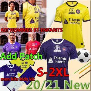 Toulouse FC Soccer Jersey 2020 2021 Mailleot De Foot Home Away Rhys Healy Anriste Bayo Spierings Adli الرجال أطقم أطفال كرة القدم قمصان الزي الرسمي