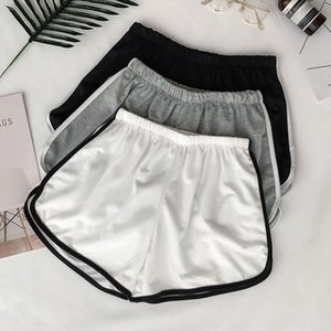 Fashion Women Sexy Solid Colors Splice Casual Shorts Fitness Workout Elastic Waist Slim Summer Beach Sports Skinny Shorts p3