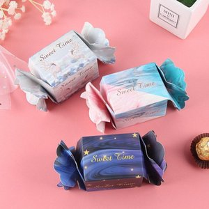 2019 Новый Starry Sky коробки конфет Рождество Подарочные коробки Baby Shower партии упаковки подарка Box Свадебной Supplies WFrV #