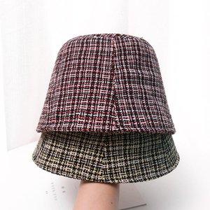 Kış Pamuk Kadınlar pauper şapka Bob Düz Kepçe Cap Small için kova şapka dilenci Moda Sokak Panama Sıcak kaputu Fall ağzına