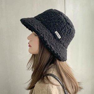 Winter Women Hats Teddy Velvet Warm Ear Protector Fisherman Hat Accessories vintage Lamb Velvet Cap Lovely Plush bucket hat